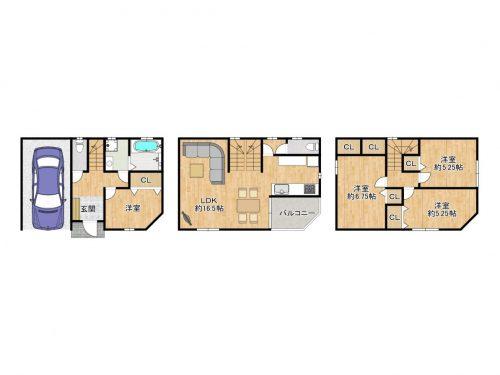 自社物件!!新築戸建 生野区中川東2丁目